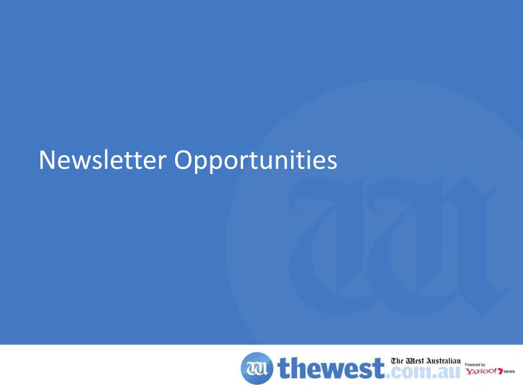 Newsletter Opportunities