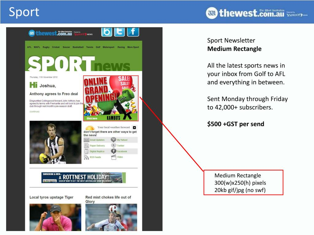 Sport Newsletter