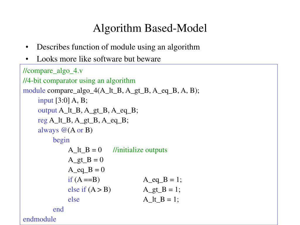 Algorithm Based-Model