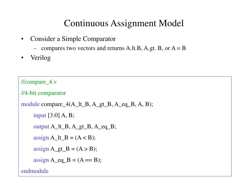 Continuous Assignment Model
