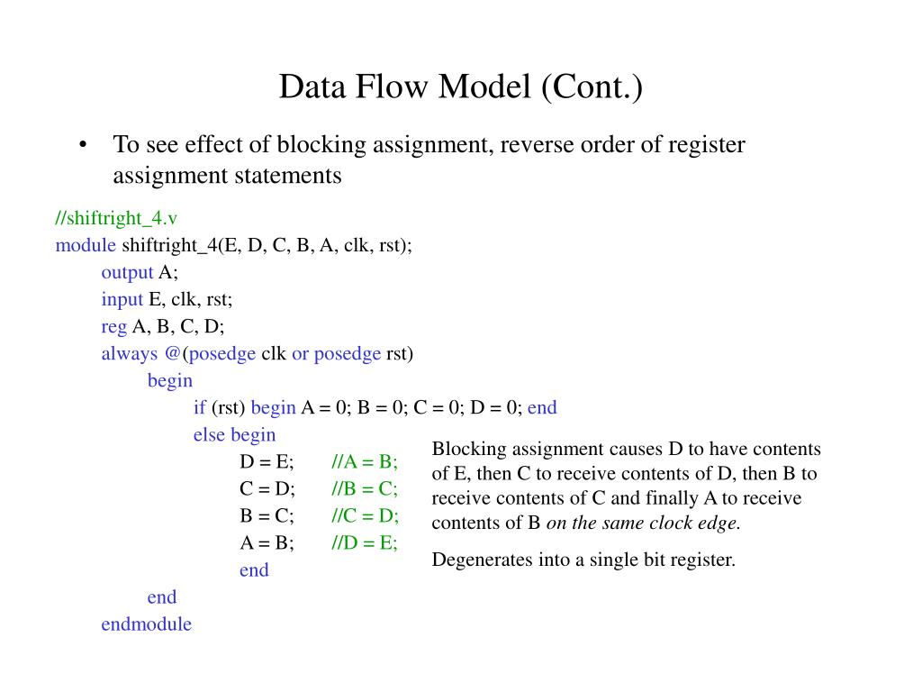 Data Flow Model (Cont.)