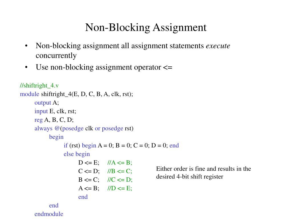 Non-Blocking Assignment