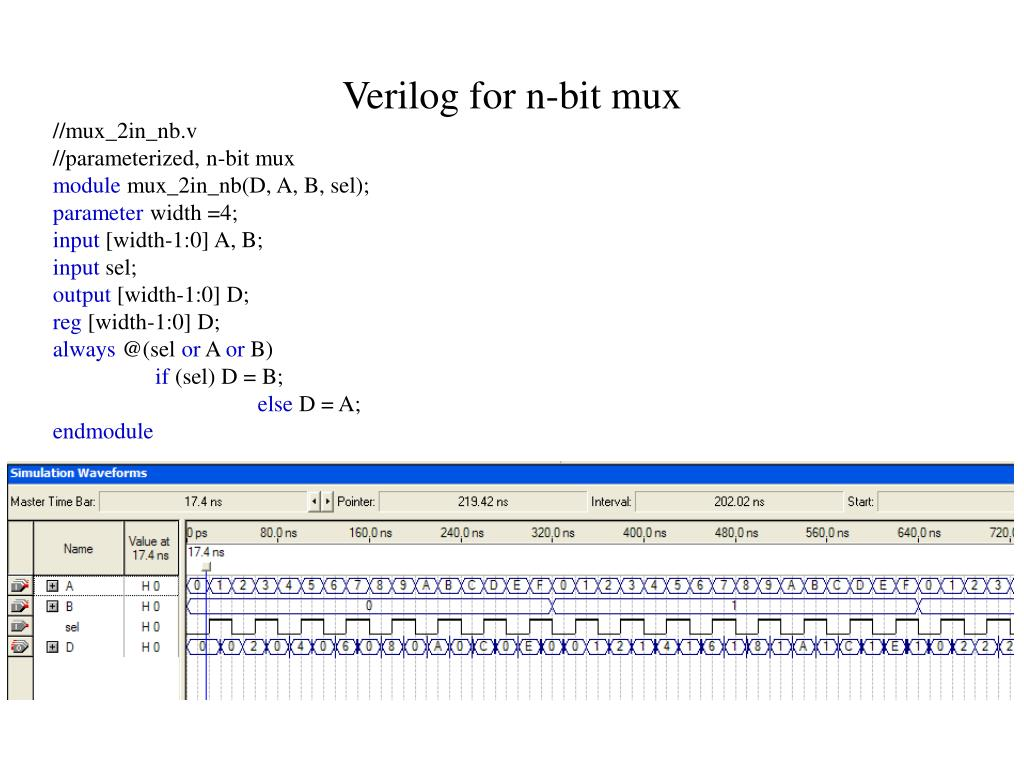 Verilog for n-bit mux
