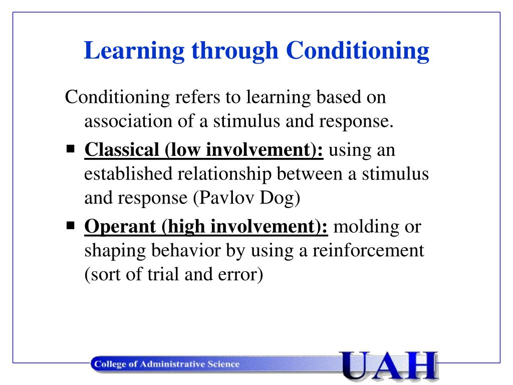 Learning through Conditioning