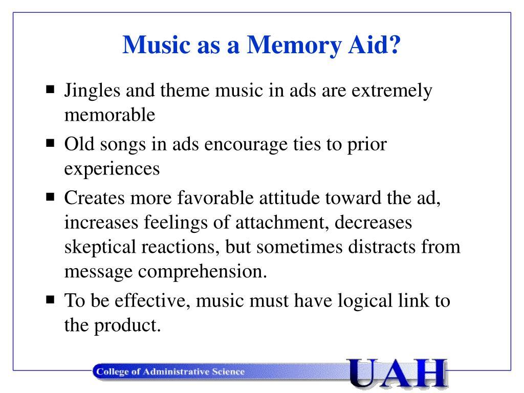 music as a memory aid