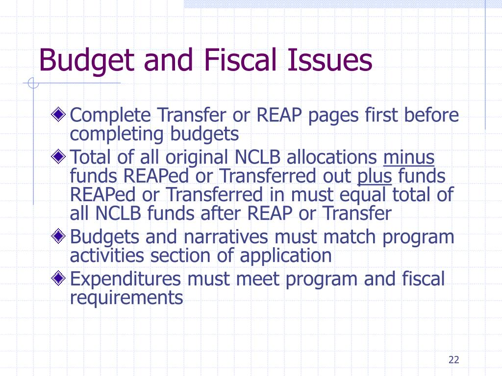 Budget and Fiscal Issues