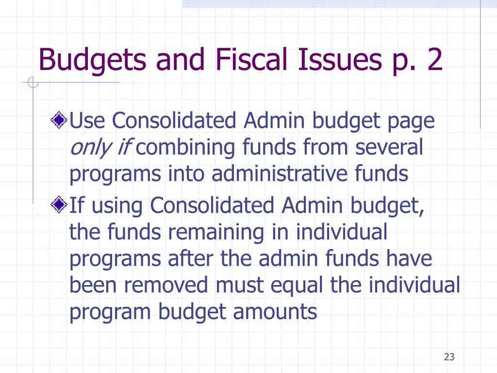 Budgets and Fiscal Issues p. 2
