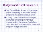 budgets and fiscal issues p 2