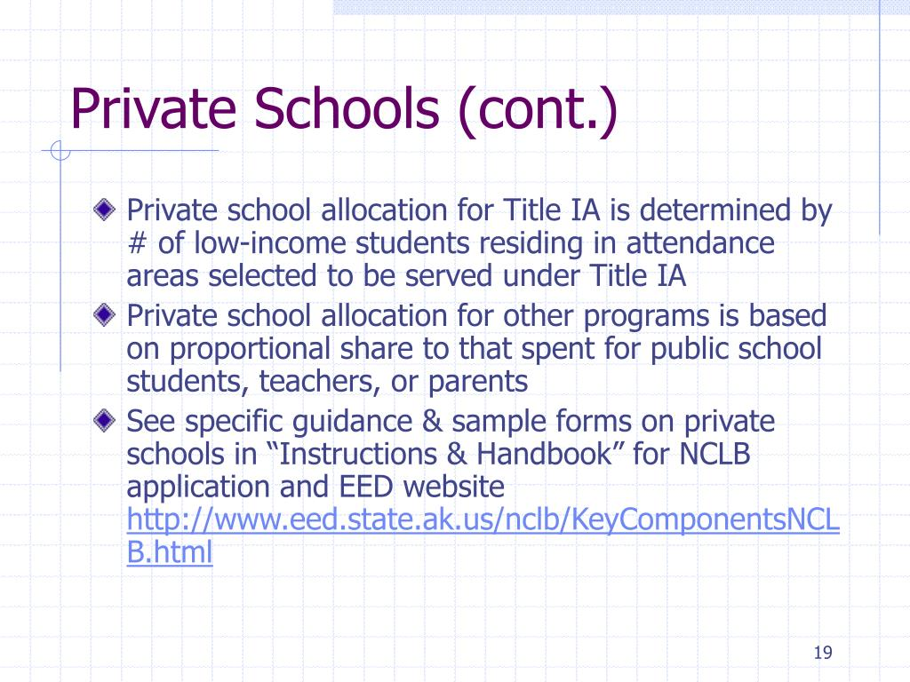 Private Schools (cont.)
