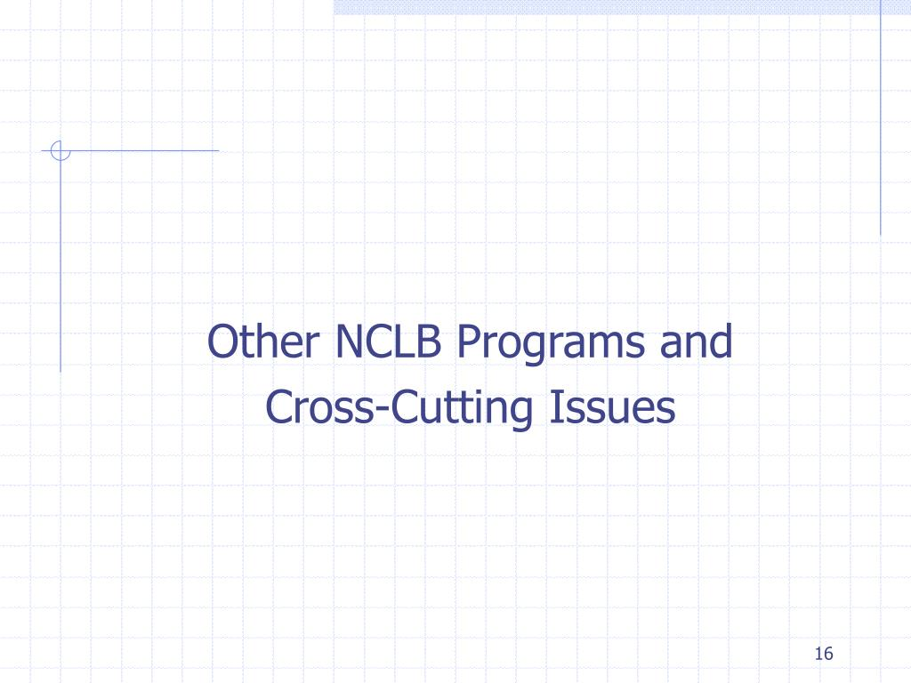 Other NCLB Programs and