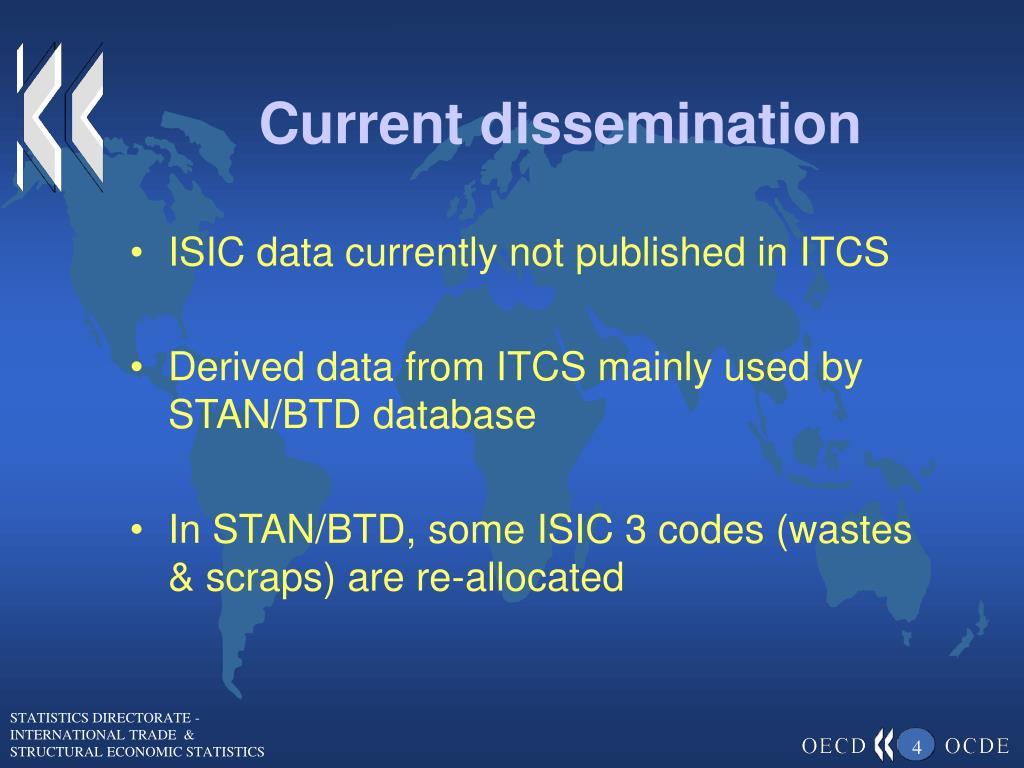 Current dissemination