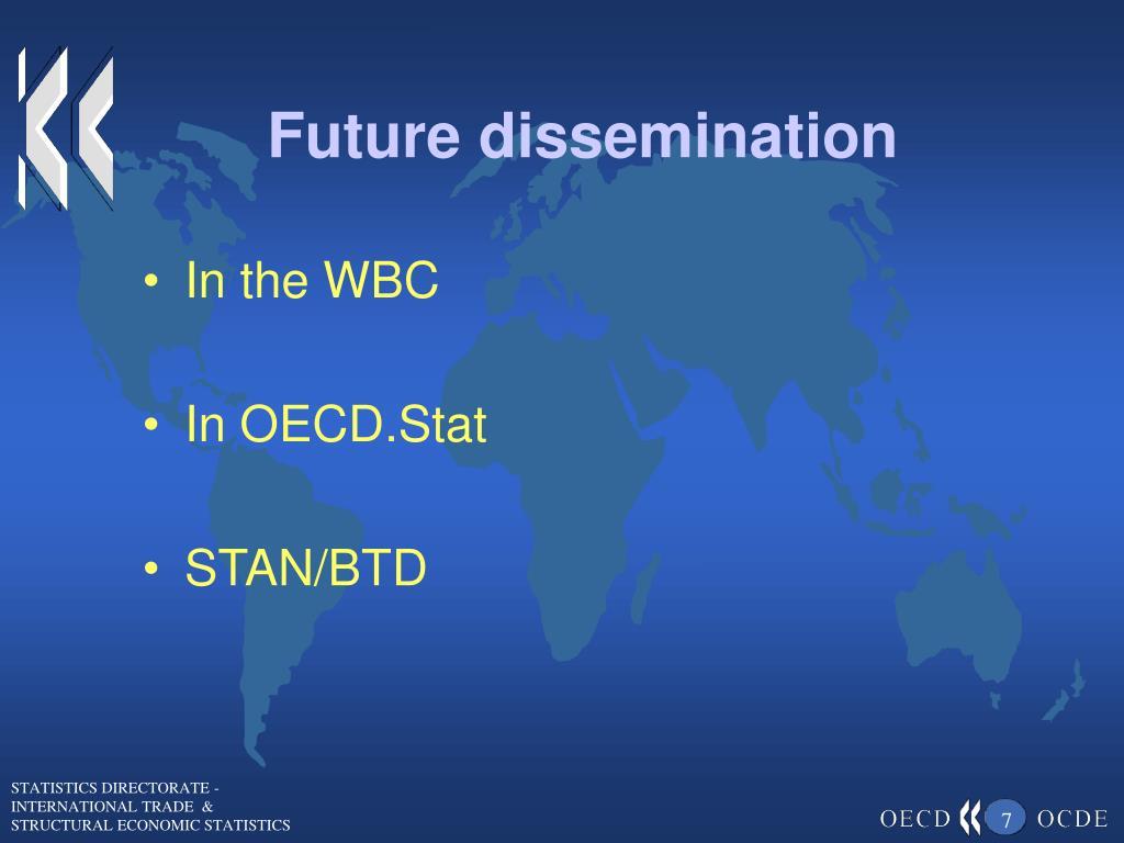 Future dissemination