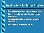 implications for future studies