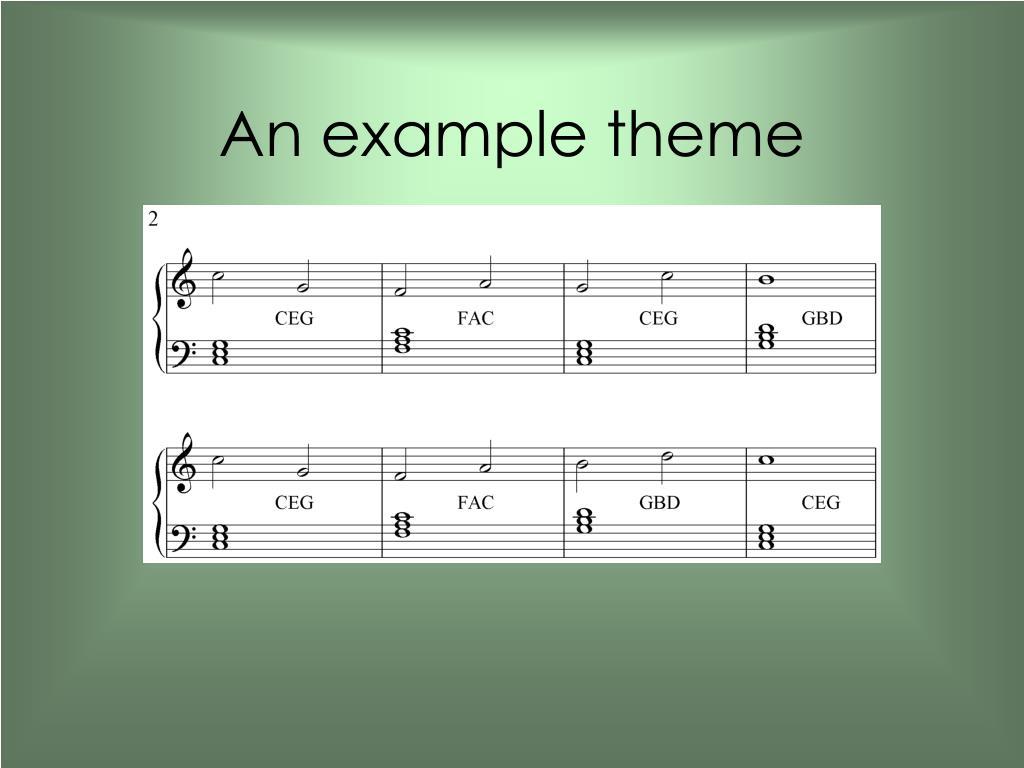 An example theme