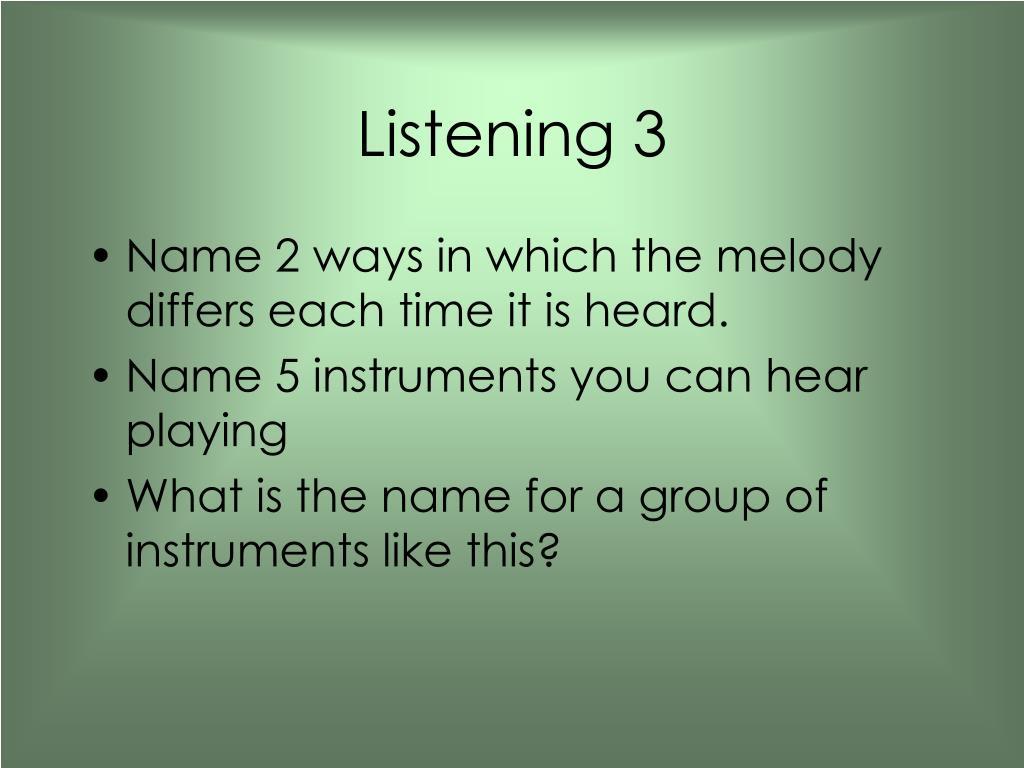 Listening 3