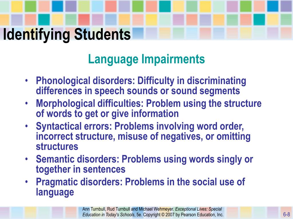 identifying communication disorders in students This documentary deals with communication disorders in children how children can over come their disoder, and how they can to live with this disorder.