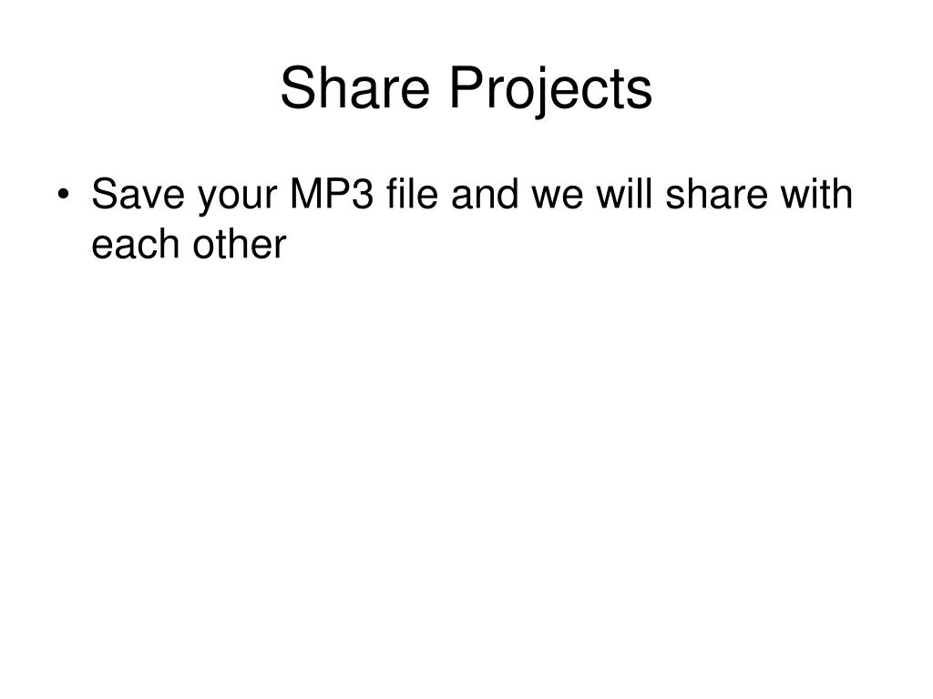 Share Projects