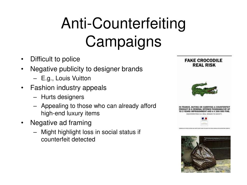 Anti-Counterfeiting Campaigns