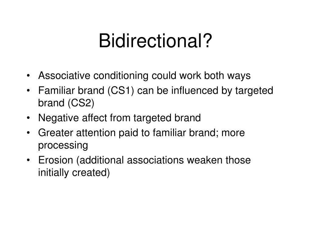 Bidirectional?