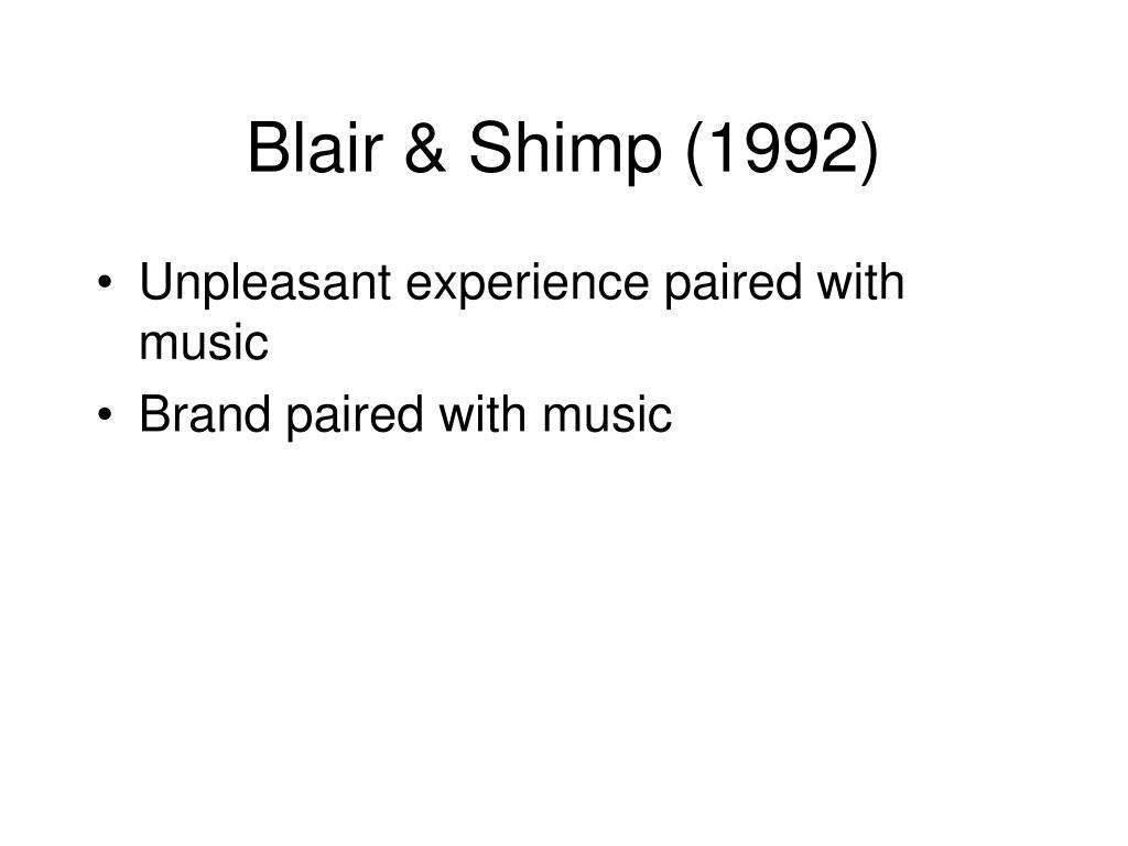 Blair & Shimp (1992)