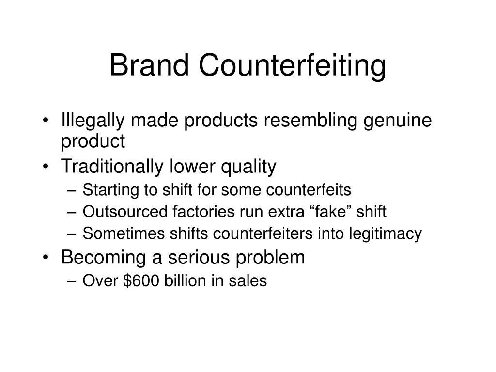 Brand Counterfeiting