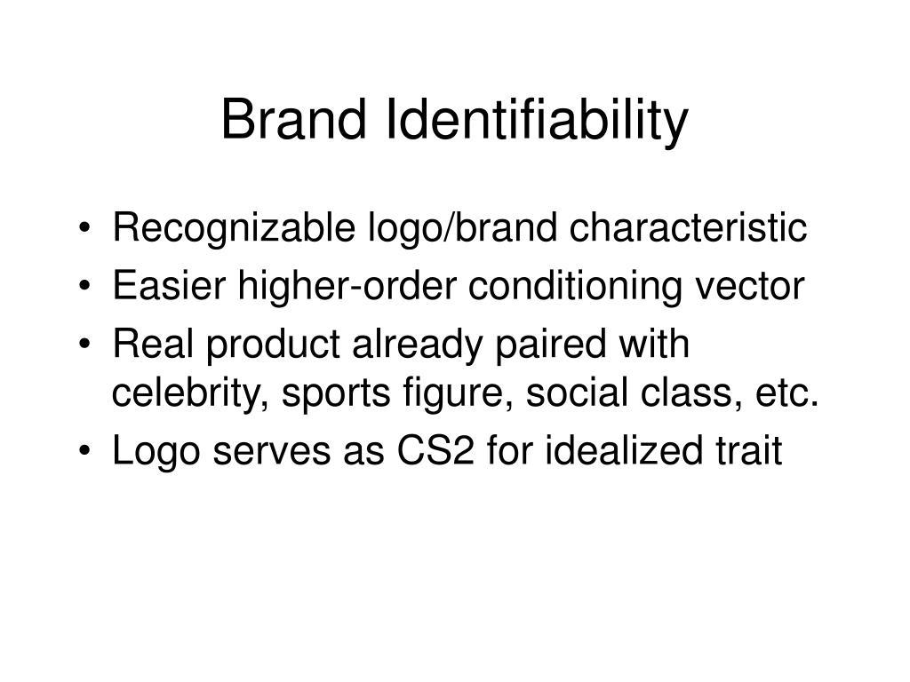 Brand Identifiability