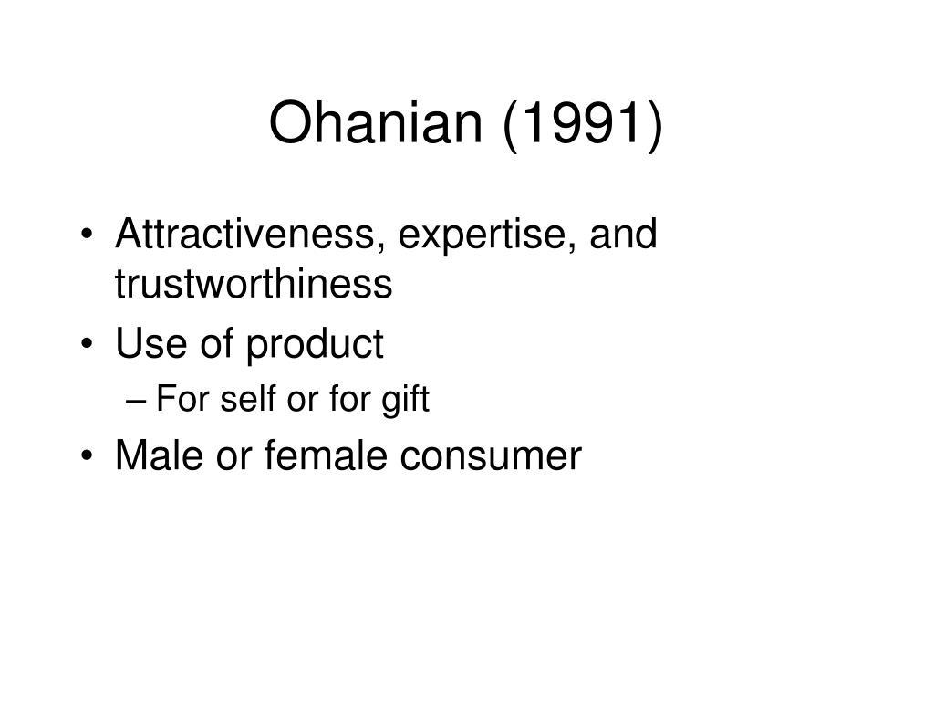 Ohanian (1991)