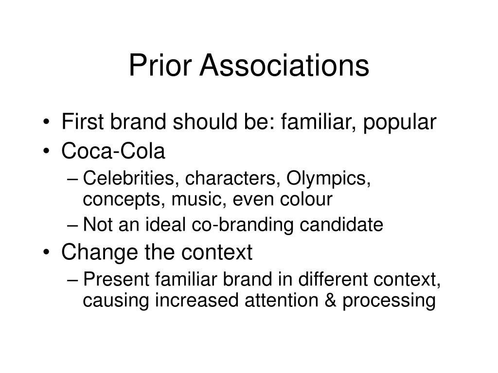 Prior Associations