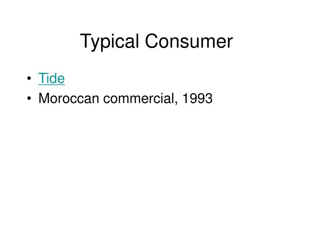 Typical Consumer