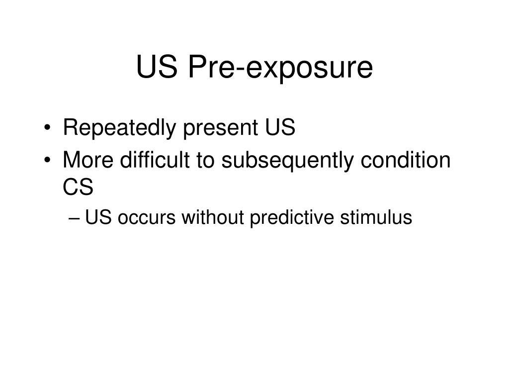 US Pre-exposure