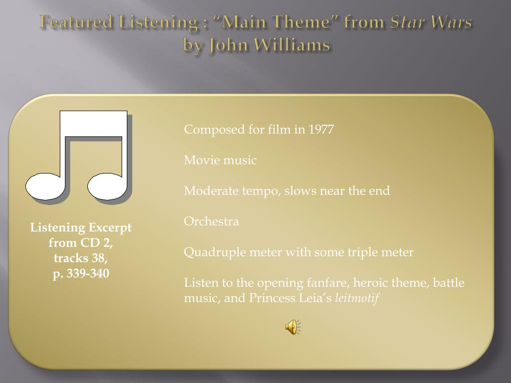 "Featured Listening : ""Main Theme"" from"