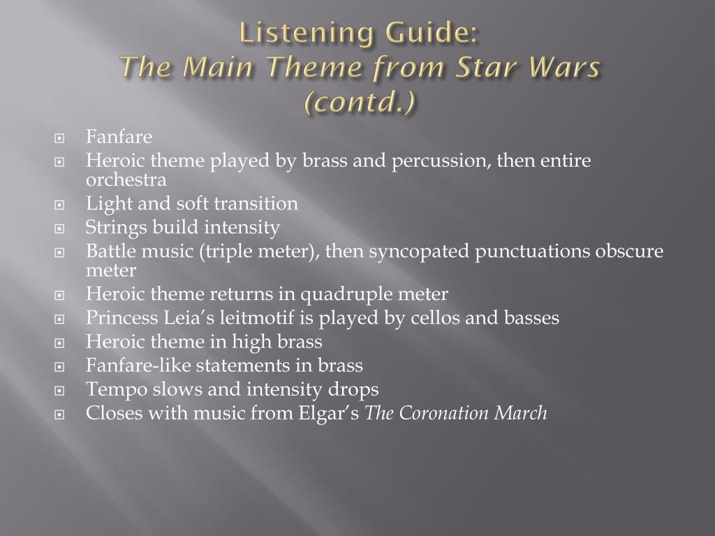 Listening Guide: