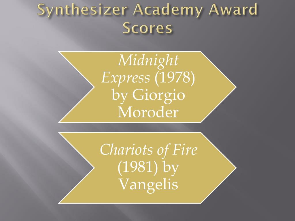 Synthesizer Academy Award Scores