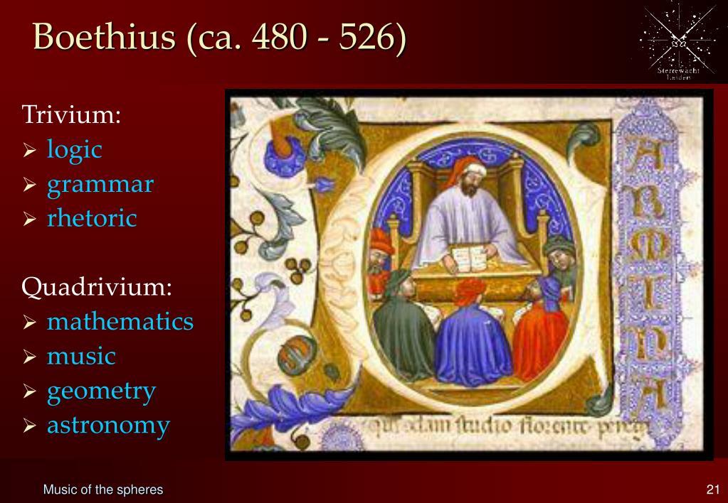 Boethius (ca. 480 - 526)