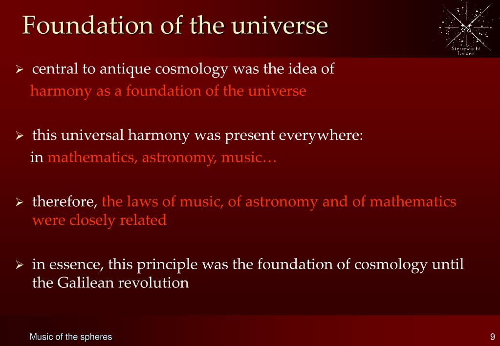 Foundation of the universe