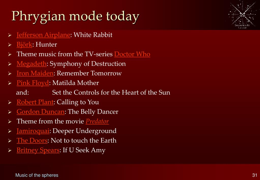 Phrygian mode today