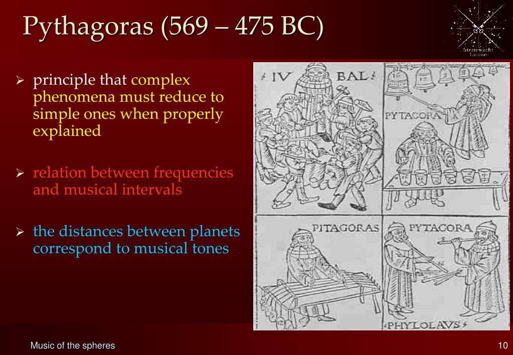 Pythagoras (569 – 475 BC)