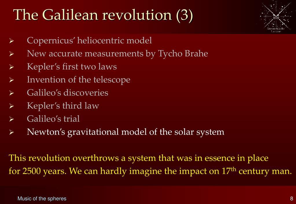 The Galilean revolution (3)