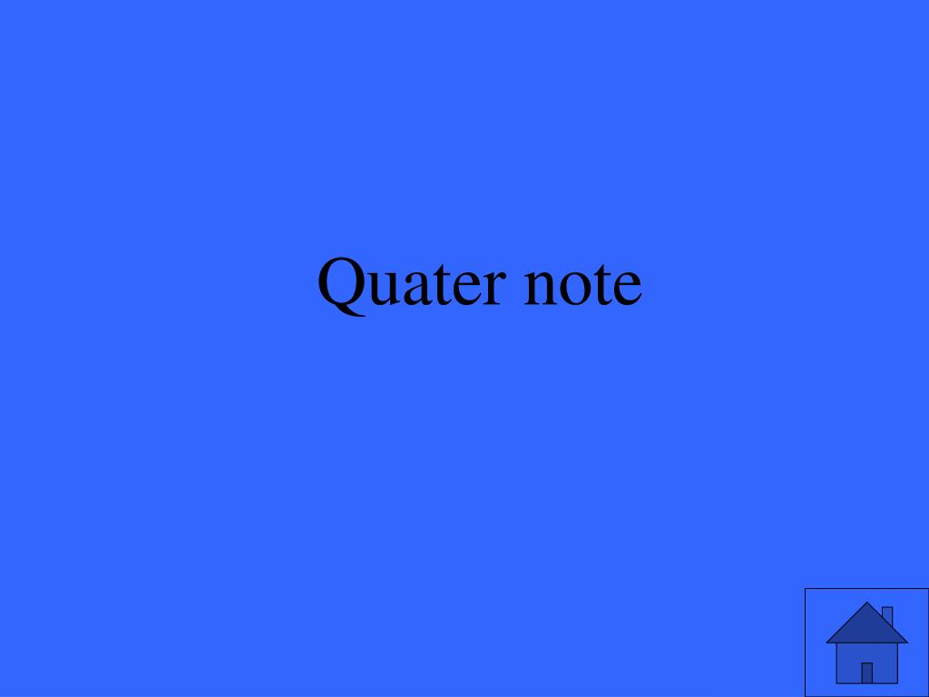 Quater note
