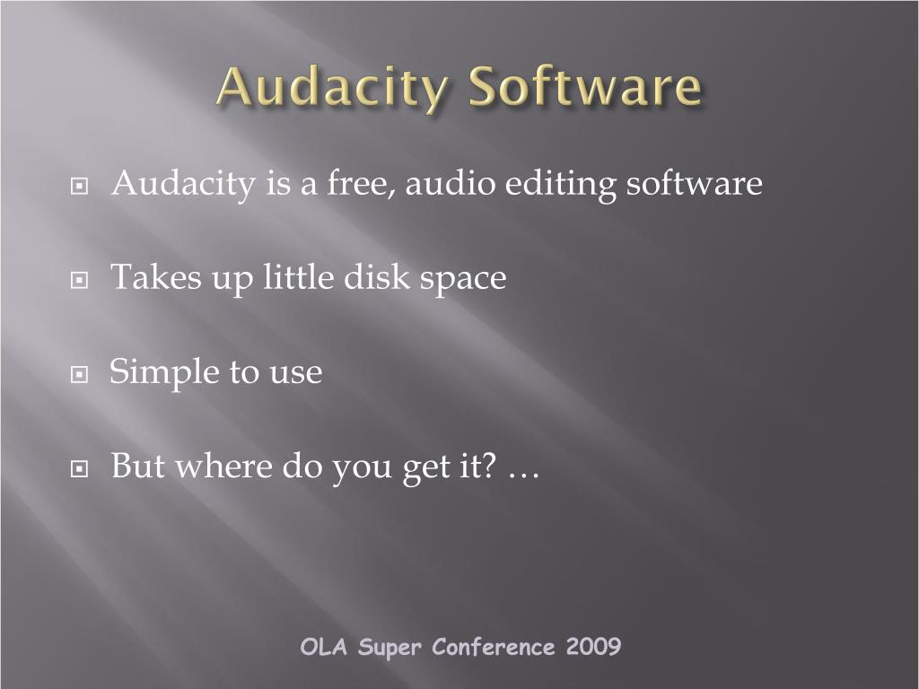 Audacity Software