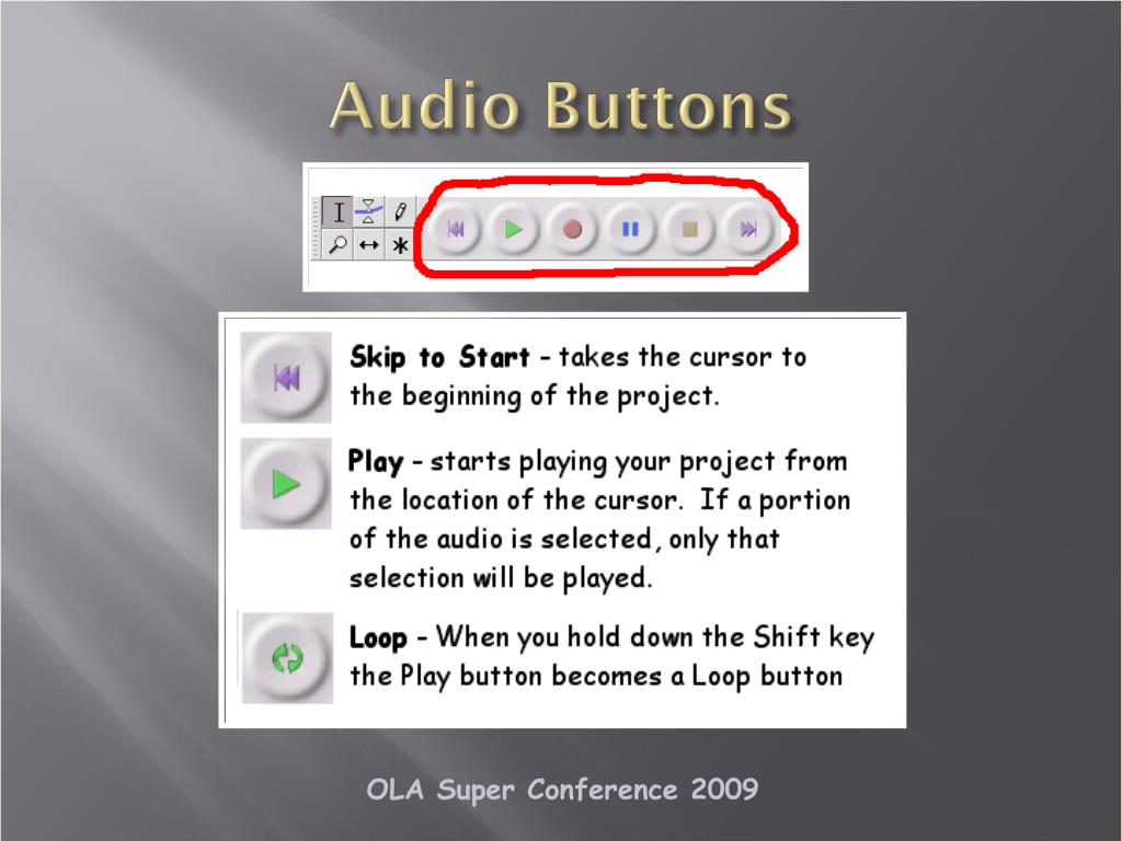 Audio Buttons