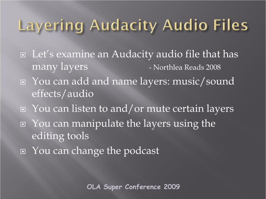 Layering Audacity Audio Files