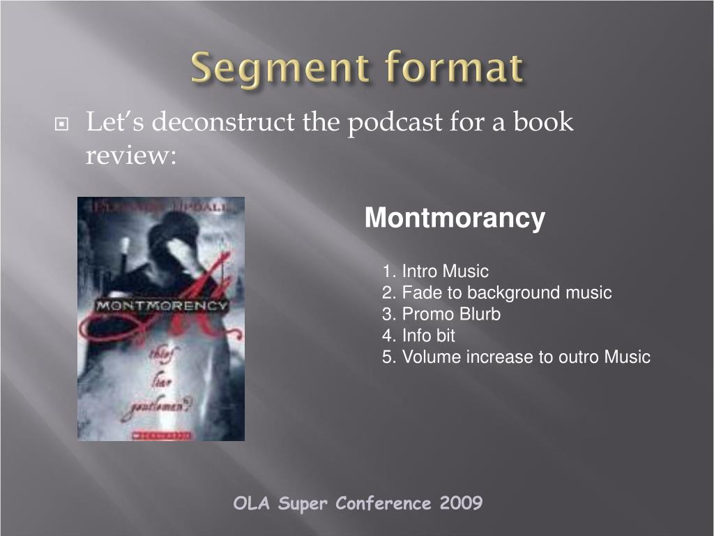 Segment format