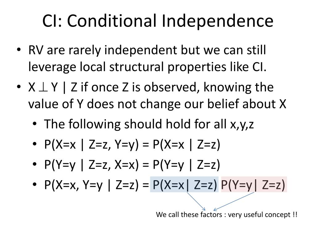 CI: Conditional Independence