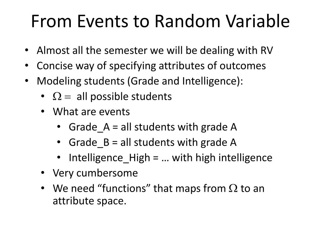 From Events to Random Variable