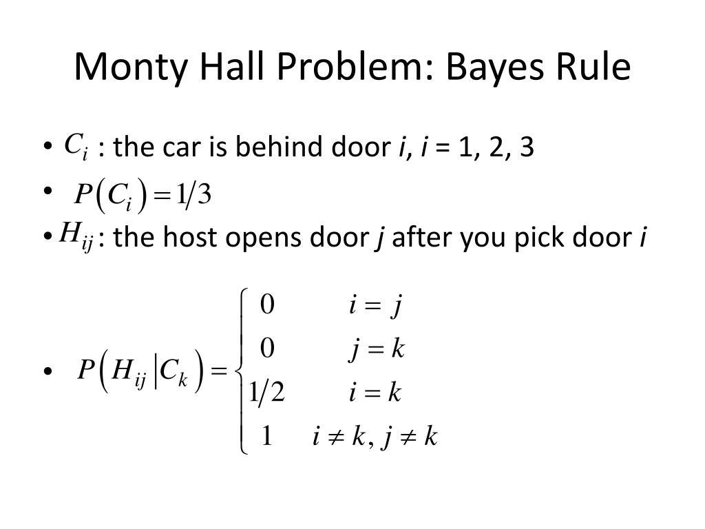 Monty Hall Problem: Bayes Rule