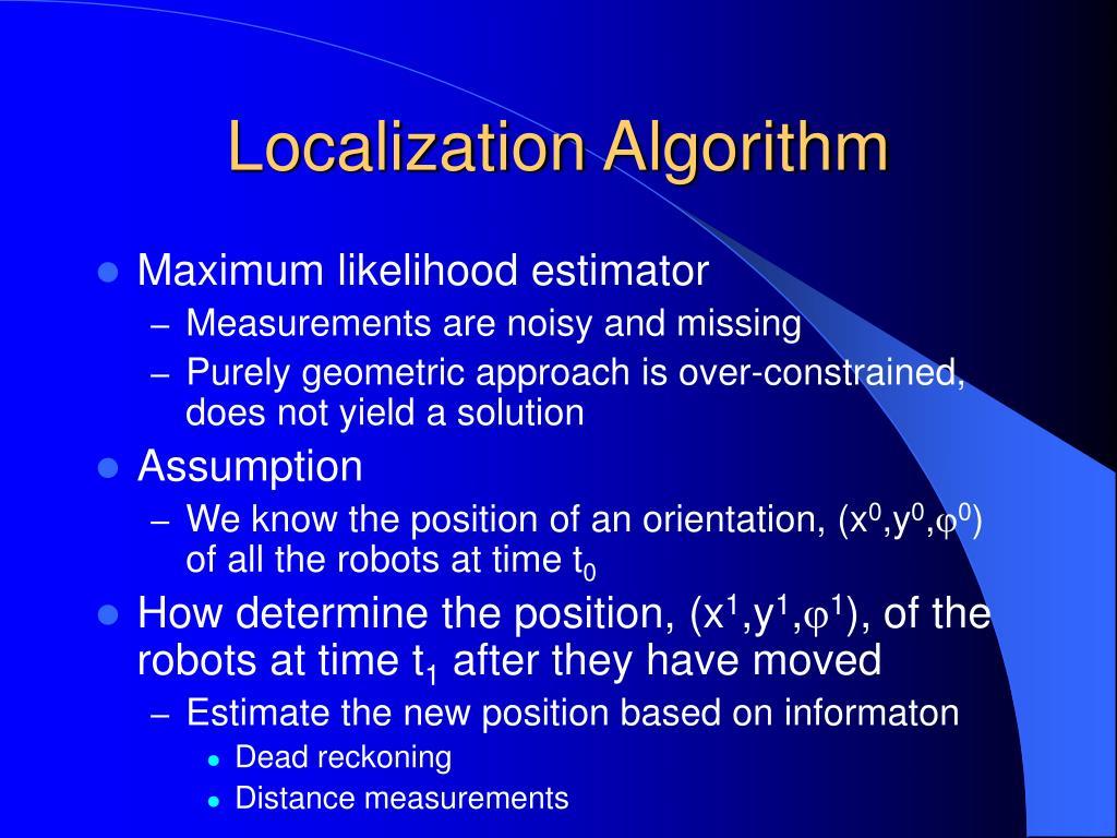 Localization Algorithm