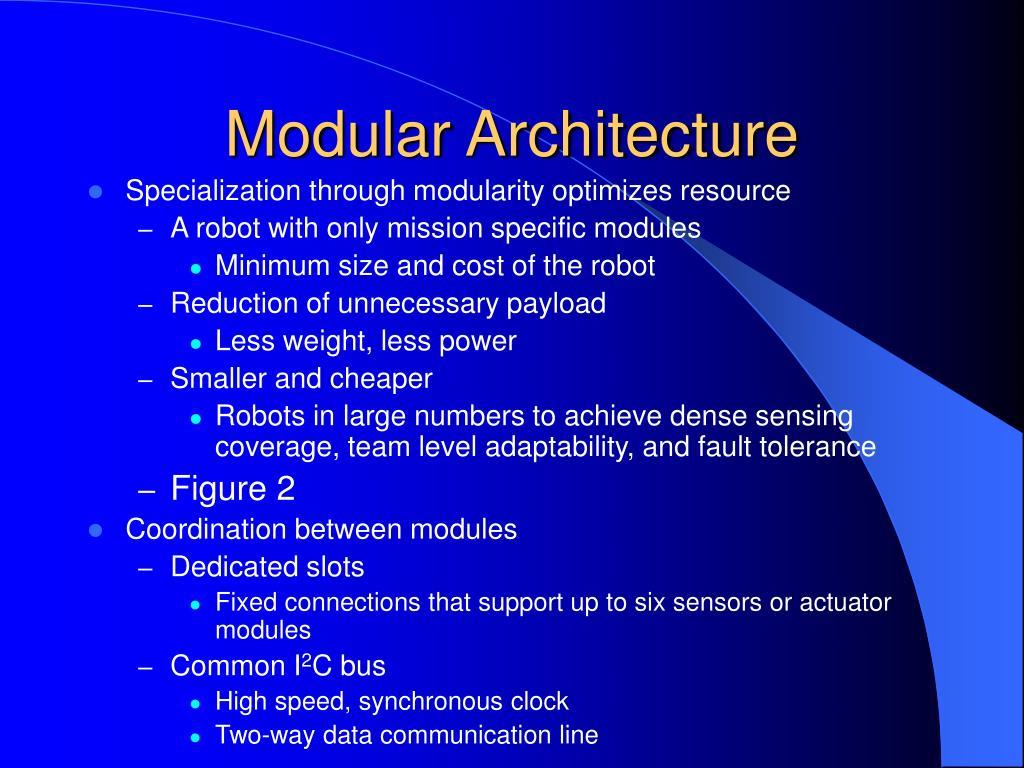 Modular Architecture