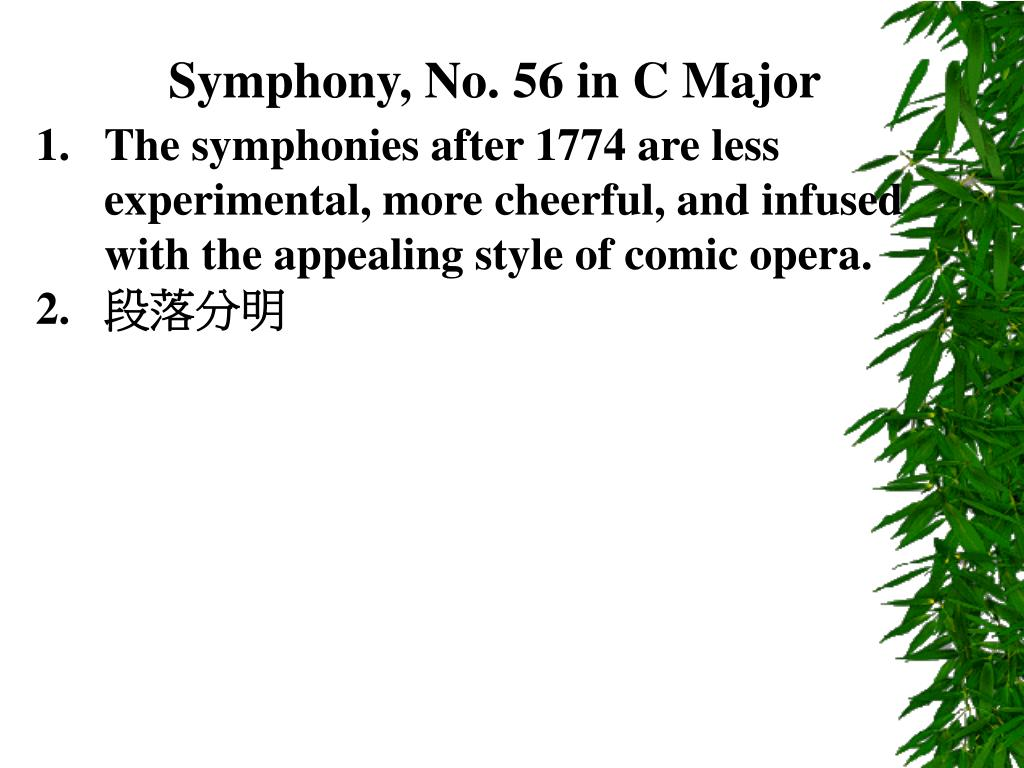 Symphony, No. 56 in C Major