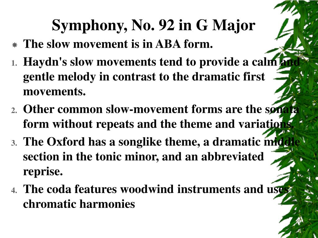Symphony, No. 92 in G Major